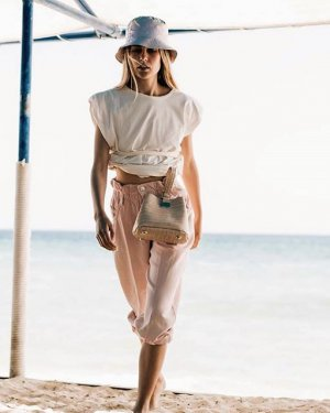 Photo shared by Greek Fashion Room on June 16, 2020 tagging @athanasiouelena. Image may contain: 1 person, standing, ocean and outdoor