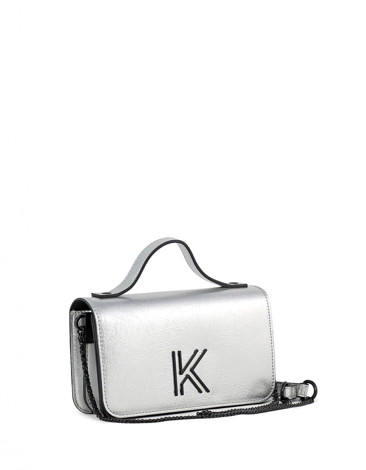 Kendall + Kylie Ida crossbody silver