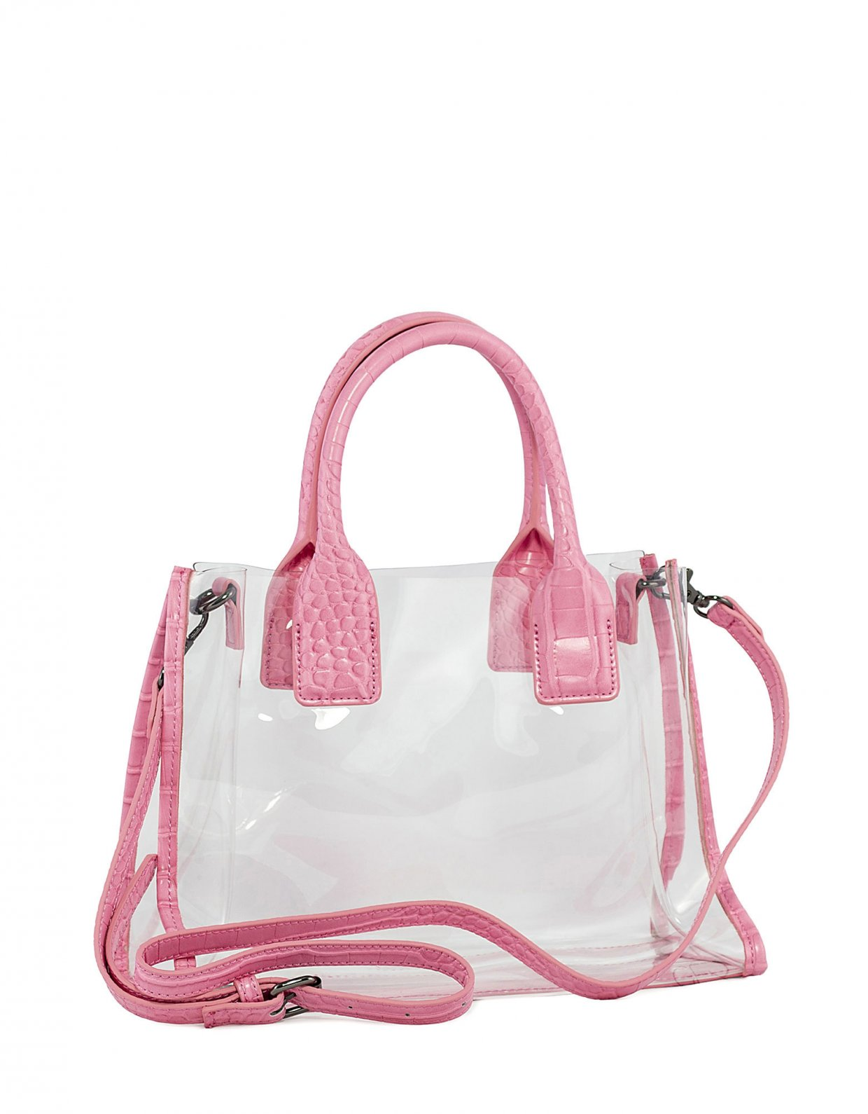 Kendall + Kylie Carla crossbody/tote bag pink croco