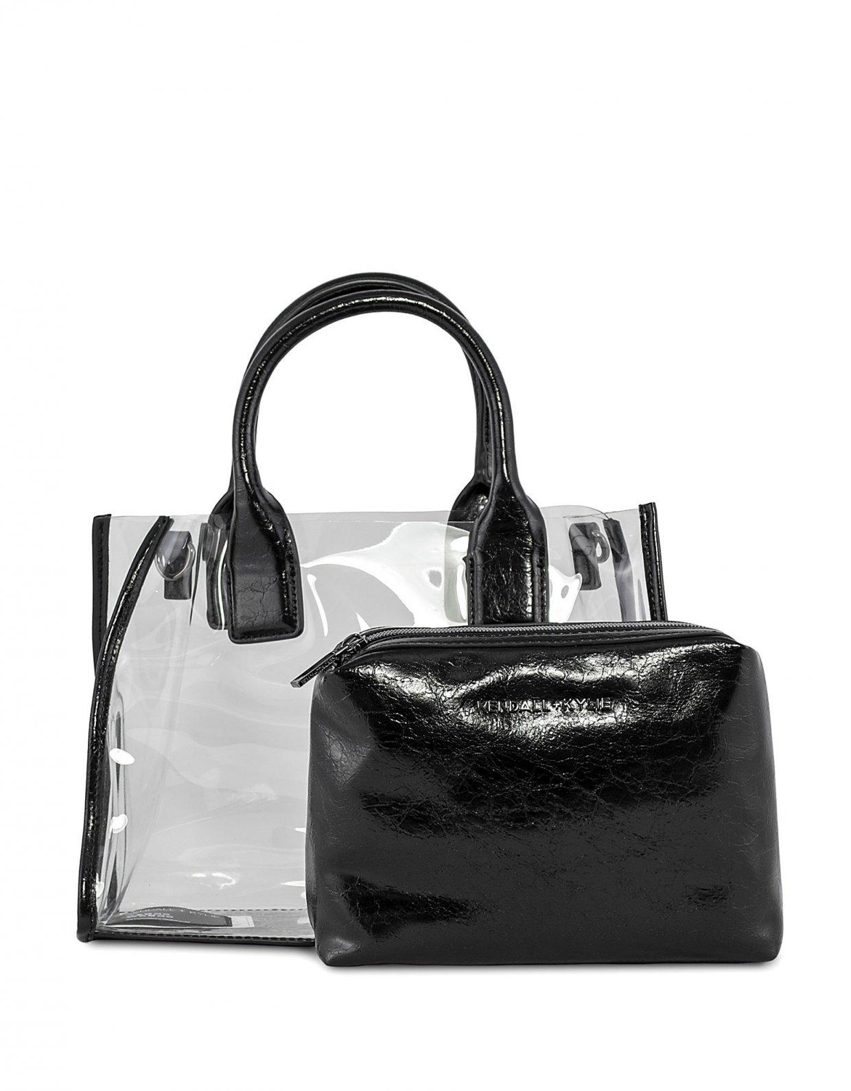 Kendall + Kylie Carla crossbody/tote bag crinkled black