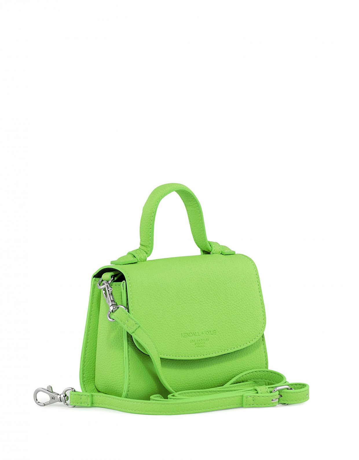 Kendall + Kylie Bae mini crossbody neon green pebble