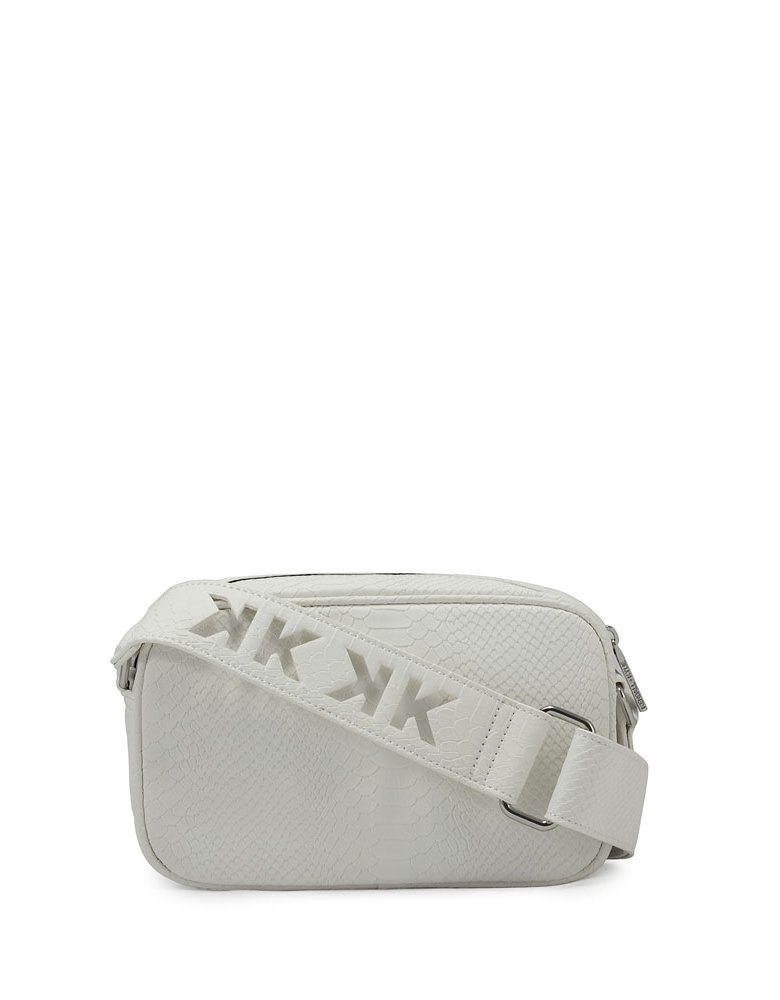 Kendall + Kylie Lumi crossbody bag white snake