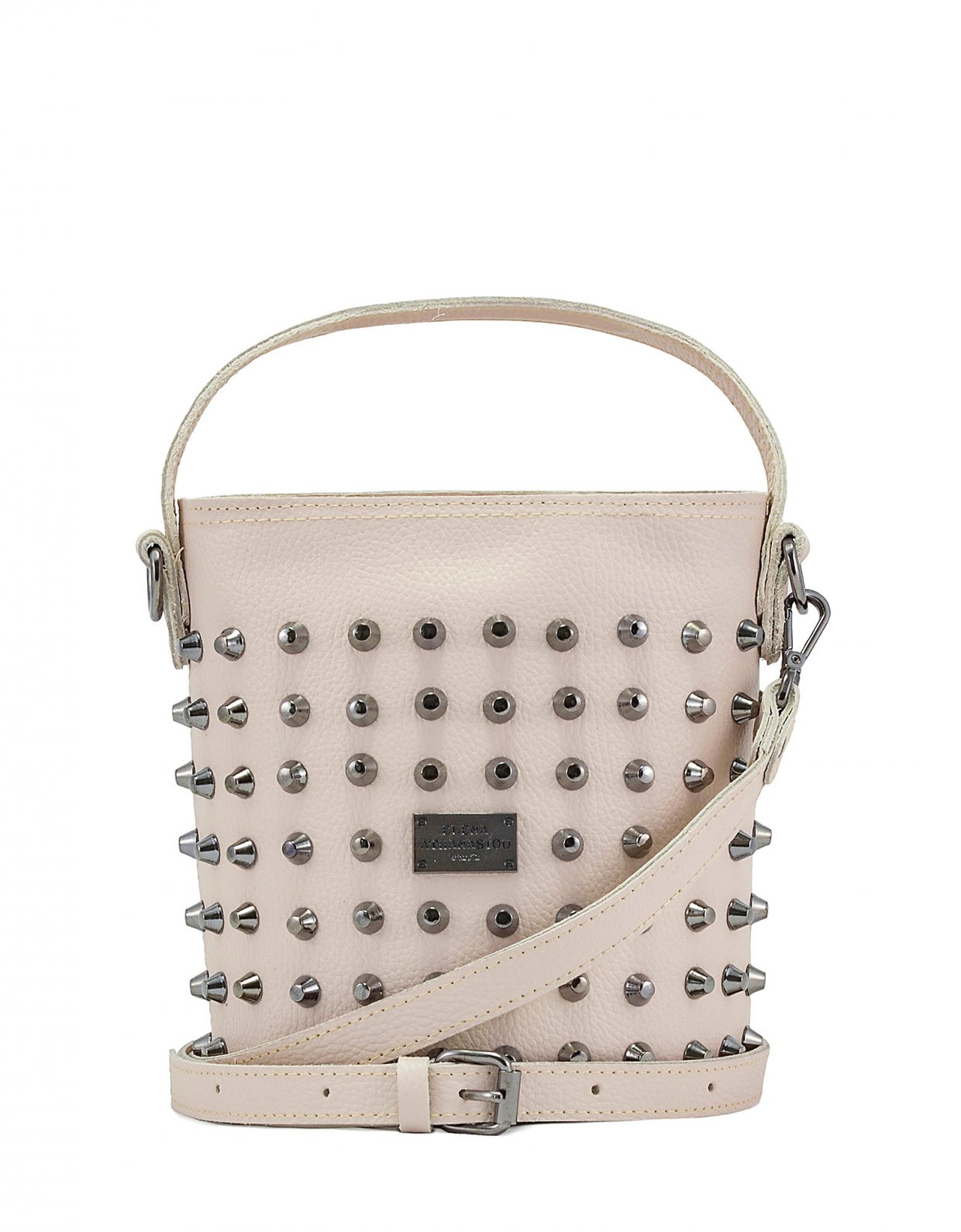 Elena Athanasiou Basket bag large nude