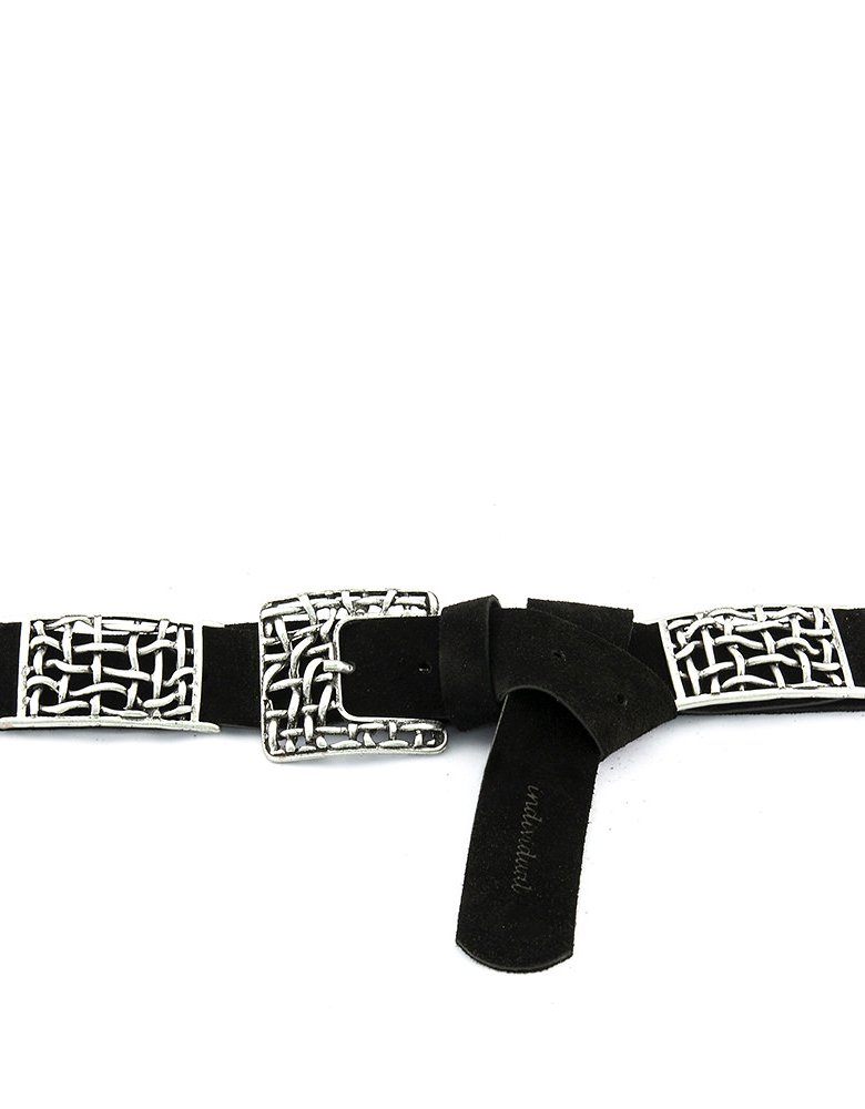 Individual Art Leather Free life belt black