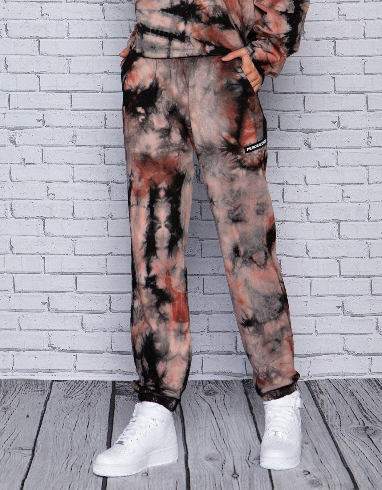 Peace & Chaos Earthly tie dye pants
