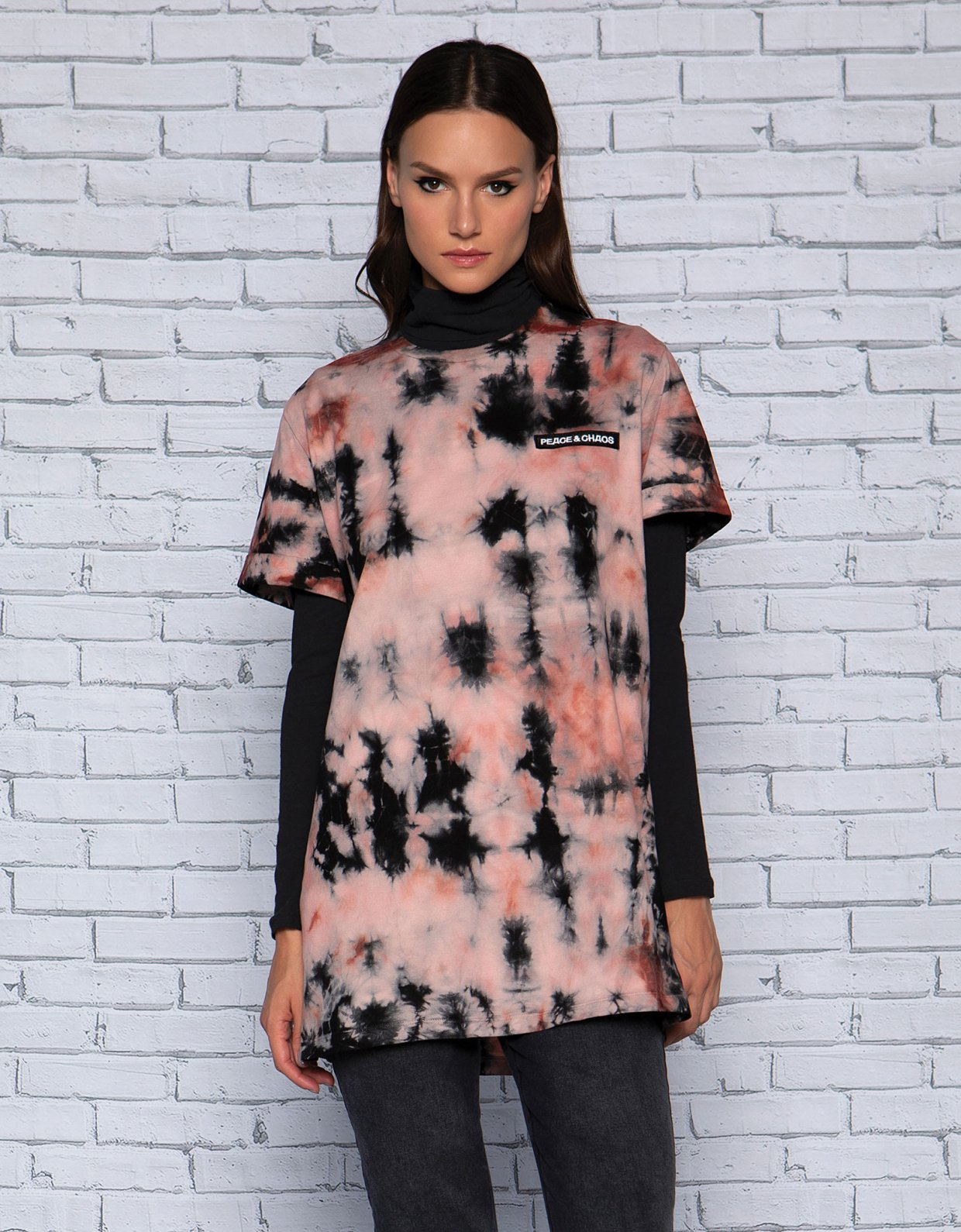 Peace & Chaos Earthly tie dye t-shirt