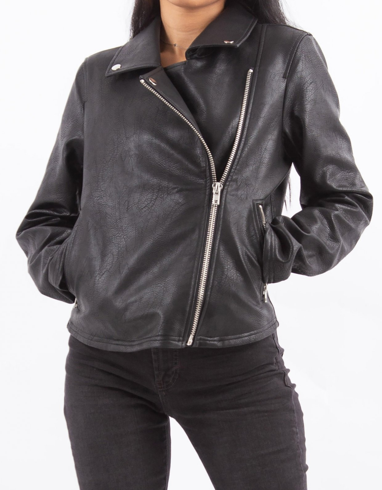 NA-KD Short biker jacket black