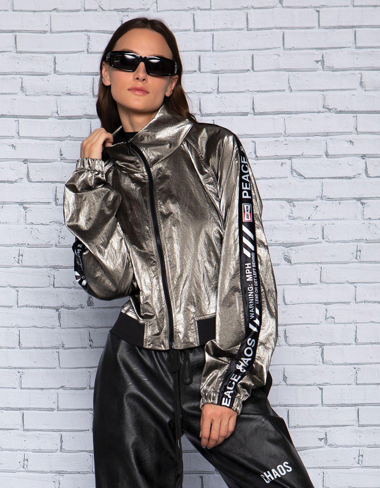 Peace & Chaos Metallic jacket