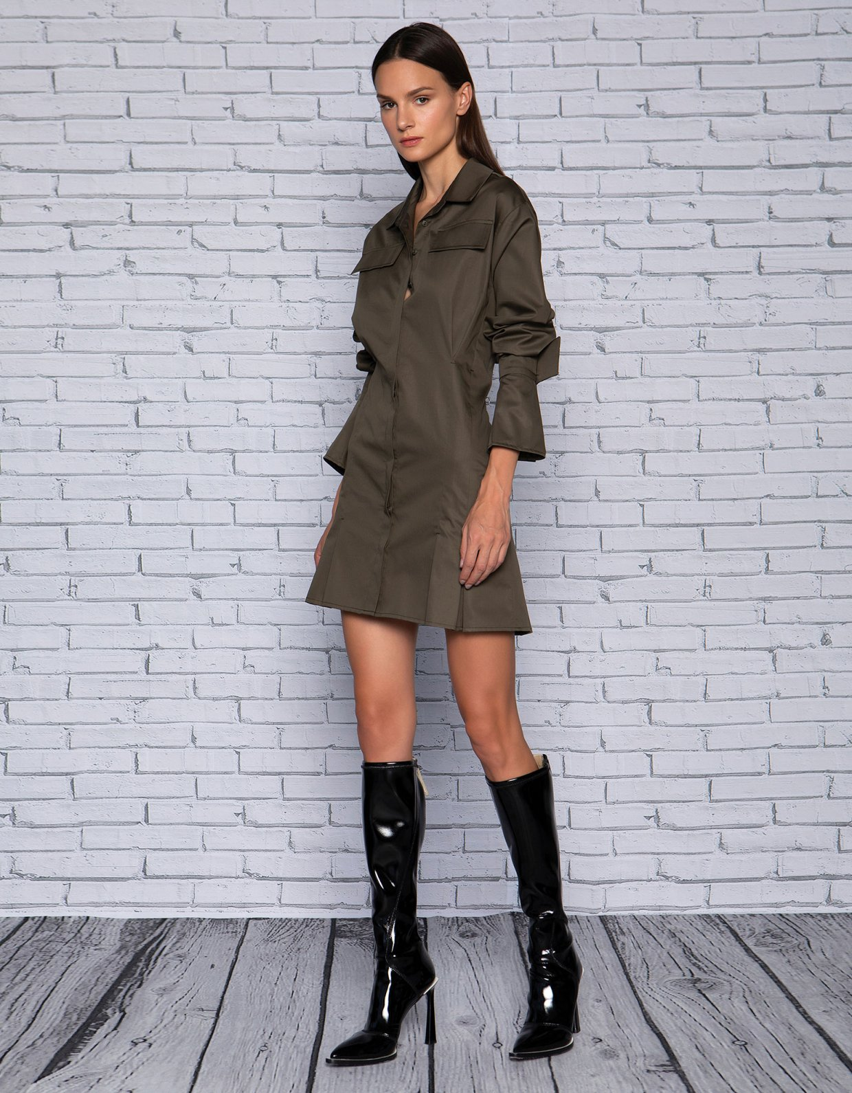 Peace & Chaos Olive dress