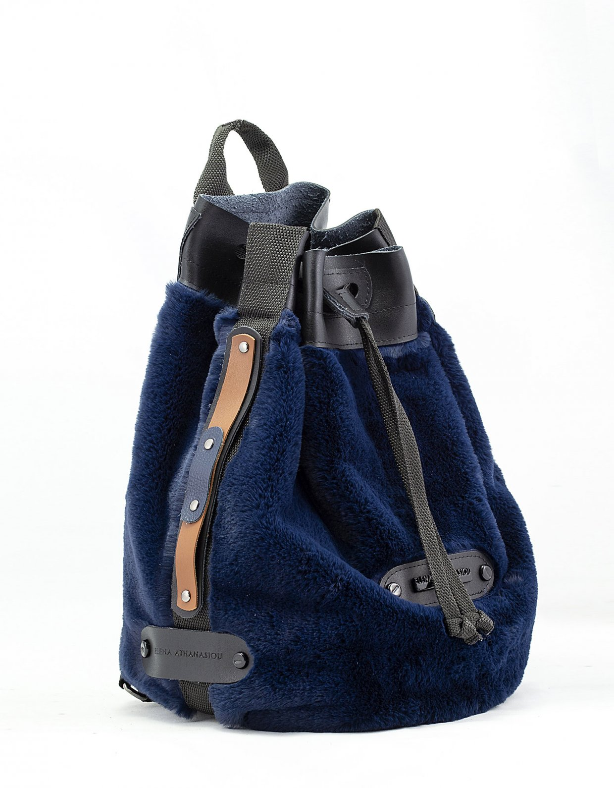Elena Athanasiou Fluffy backpack blue