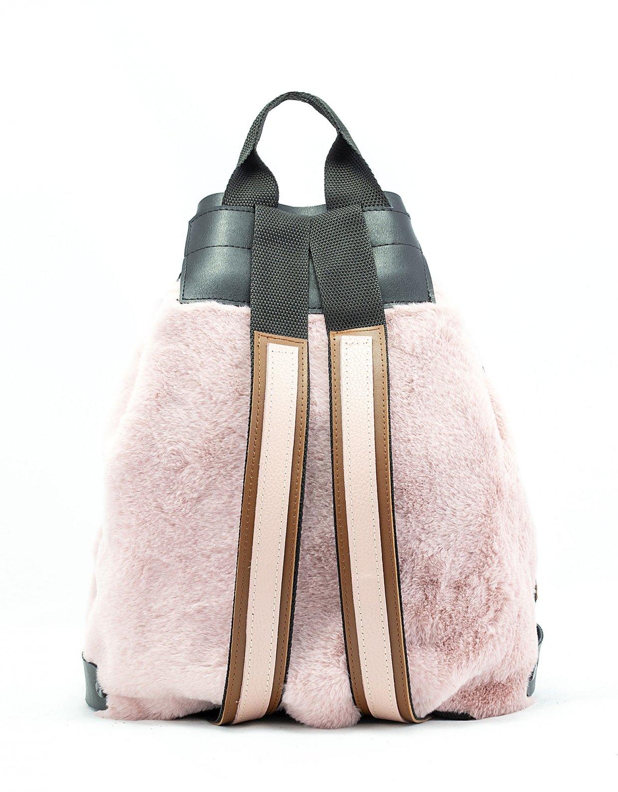 Elena Athanasiou Fluffy backpack pink