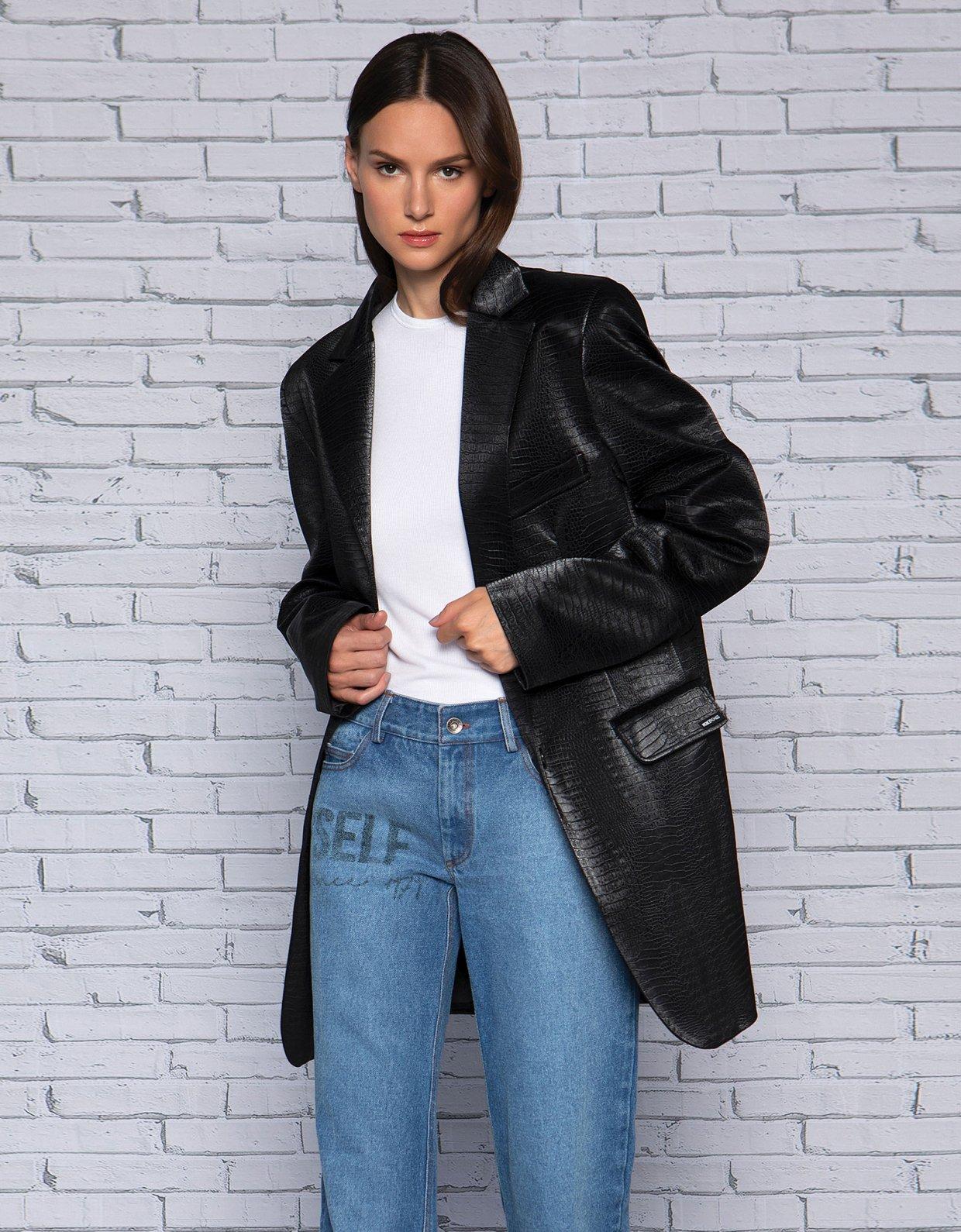 Peace & Chaos Street style eco leather blazer