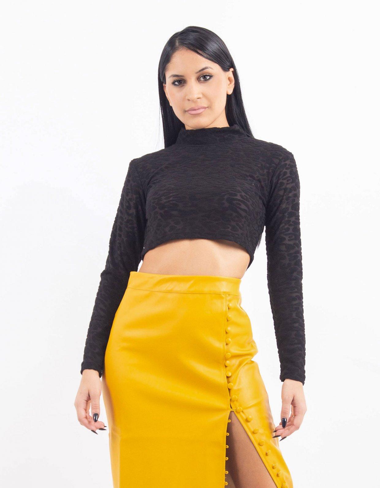 Kendall + Kylie Open back velvet top