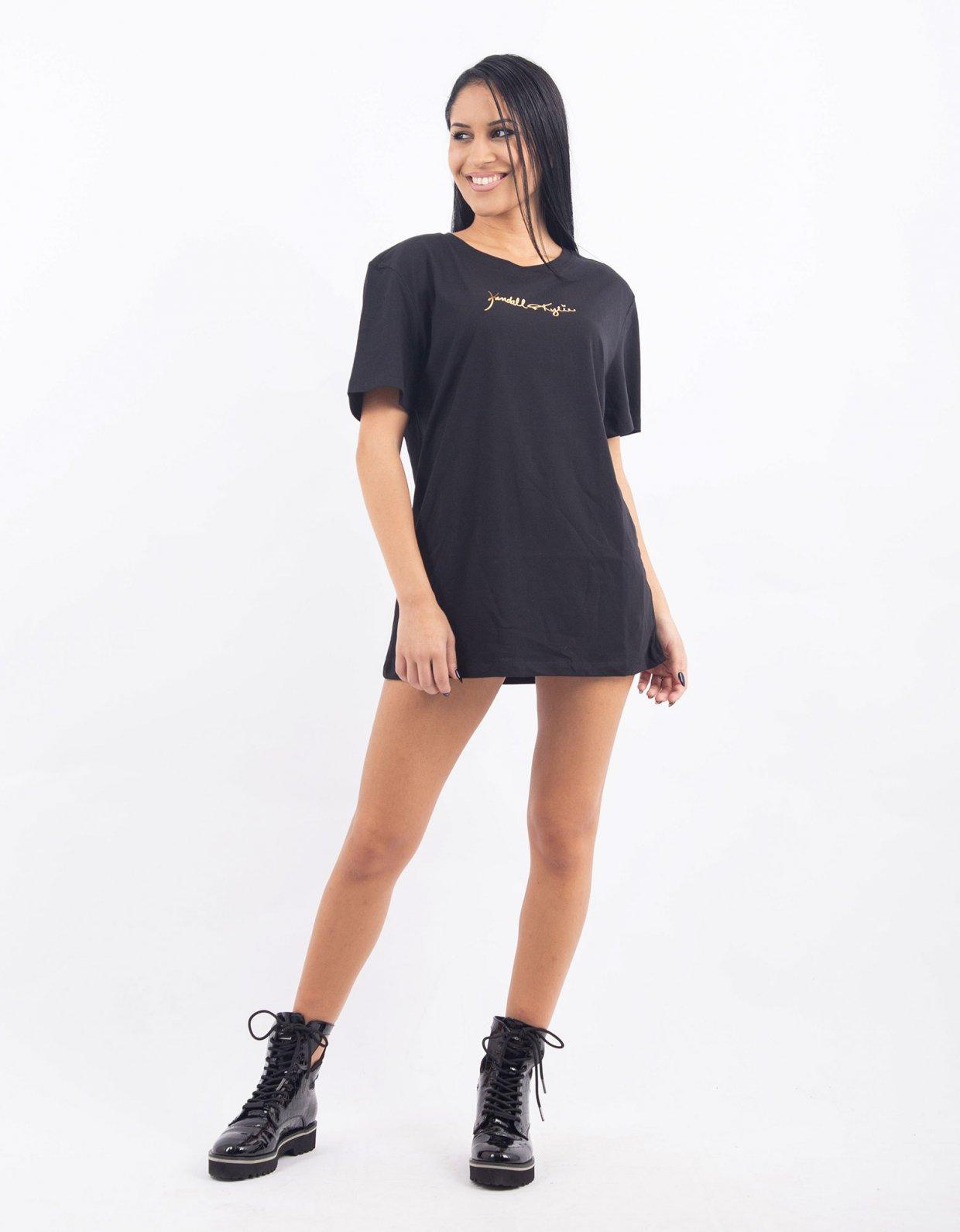 Kendall + Kylie Gold print t-shirt