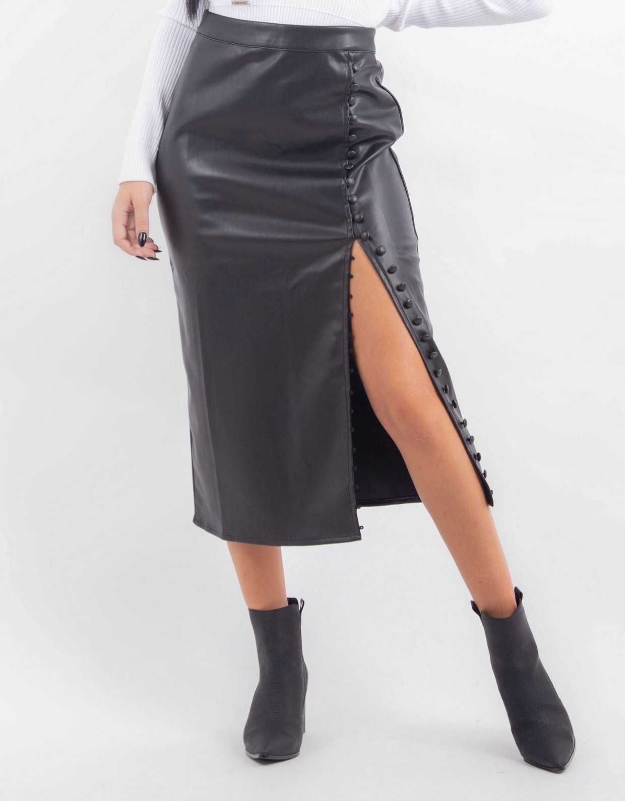 Kendall + Kylie Black pencil skirt