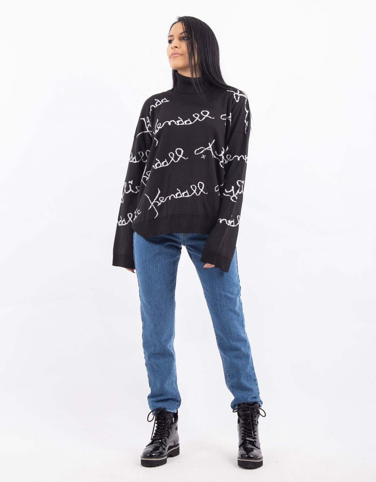 Kendall + Kylie Knit turtleneck top