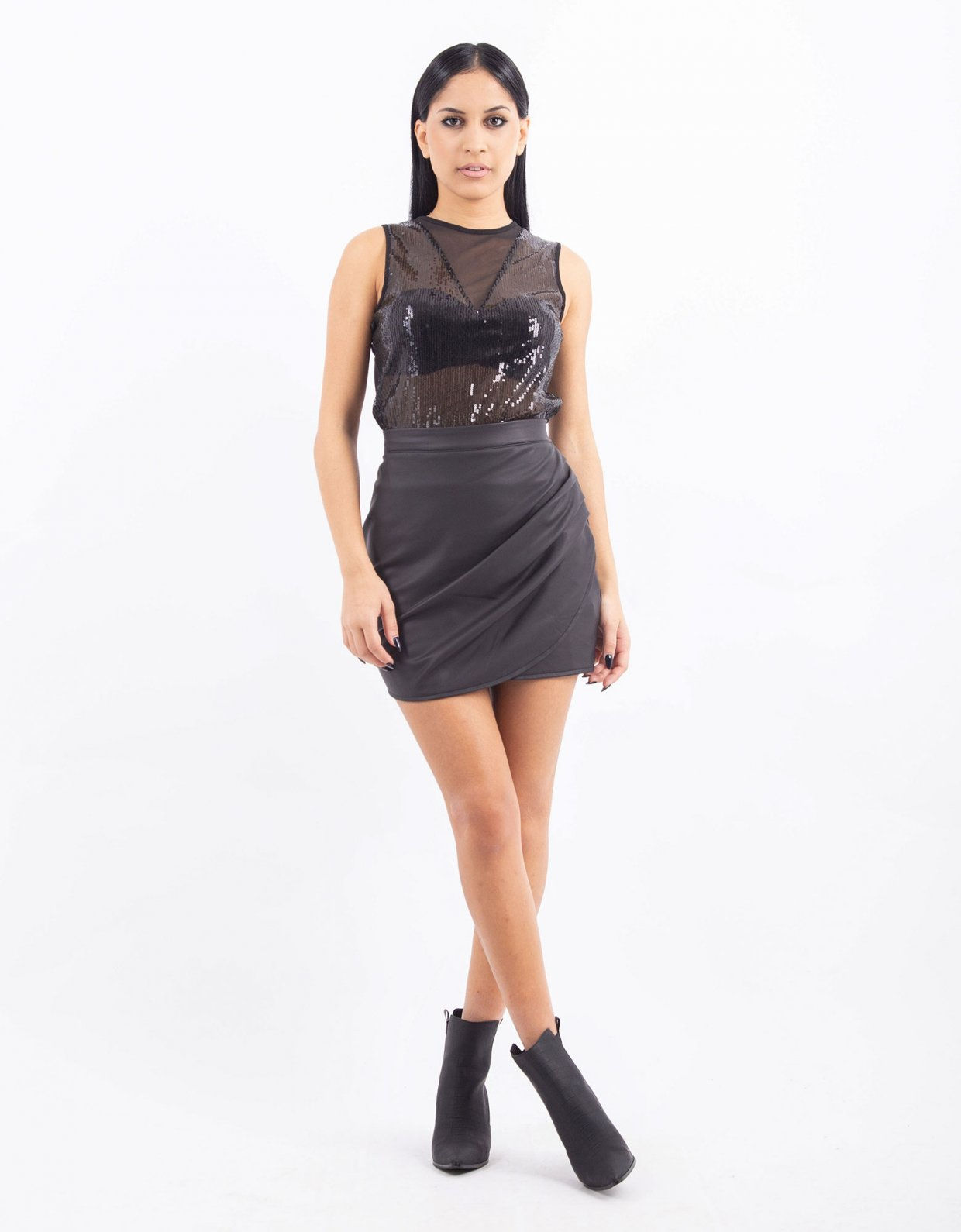 Kendall + Kylie Sequin c-through body