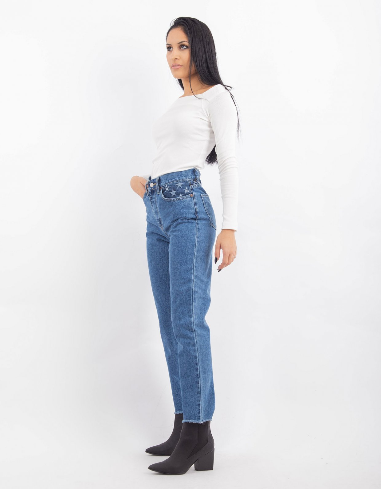 Salt & Pepper Joan S/W stars denim pants