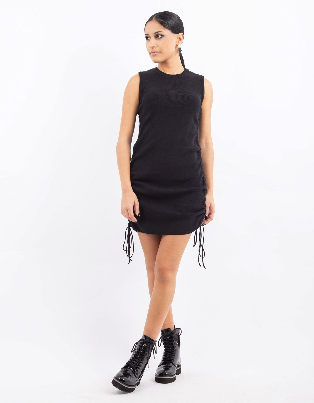 Combos Knitwear Combos W19 – Black tank dress