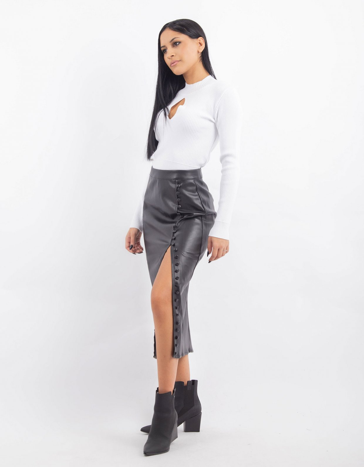 Kendall + Kylie Black pencil skirt