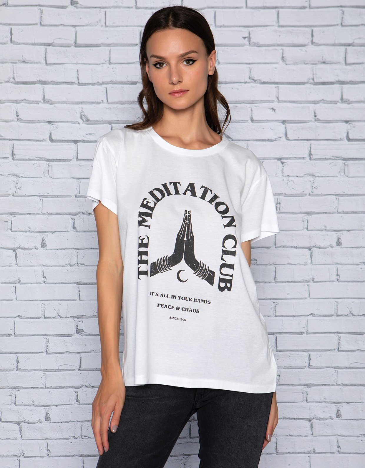Peace & Chaos Meditation club t-shirt