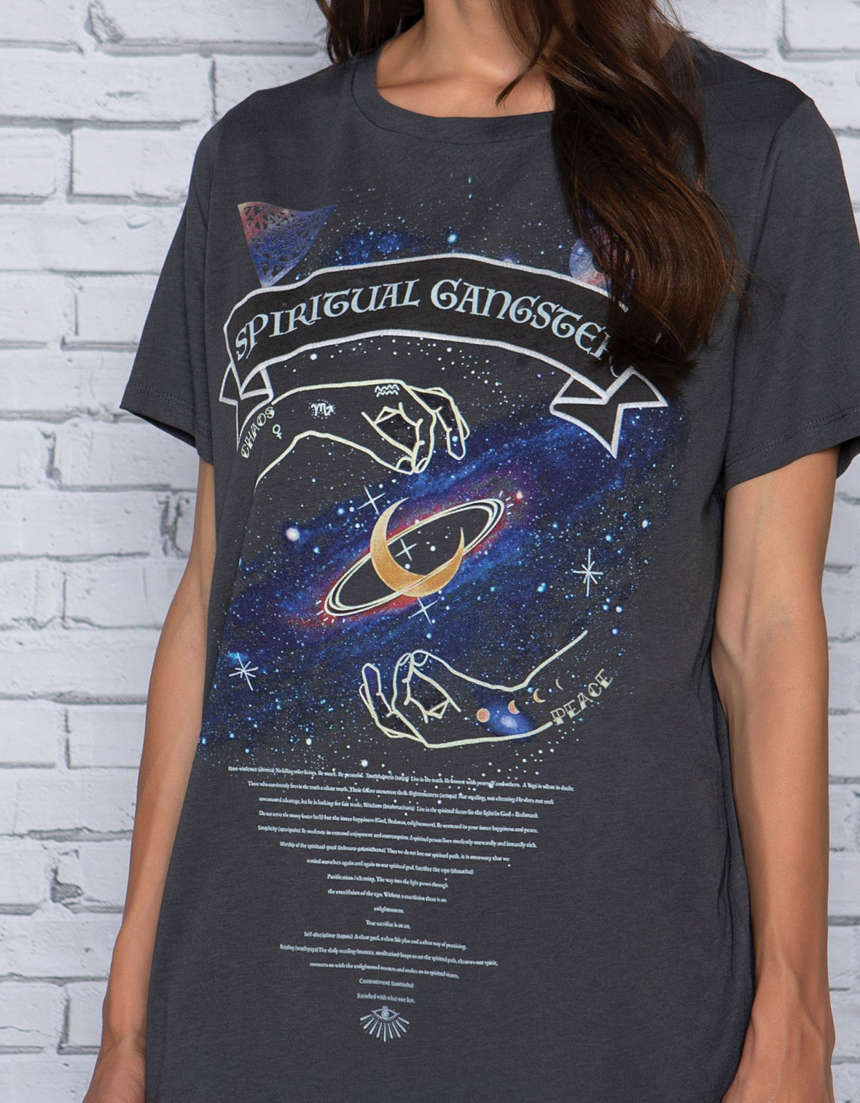 Peace & Chaos Spiritual gangster t-shirt