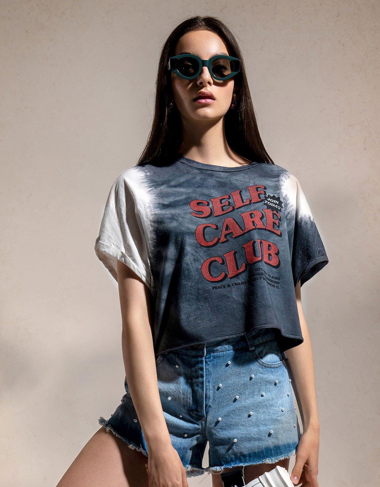 Peace & Chaos Self care club t-shirt