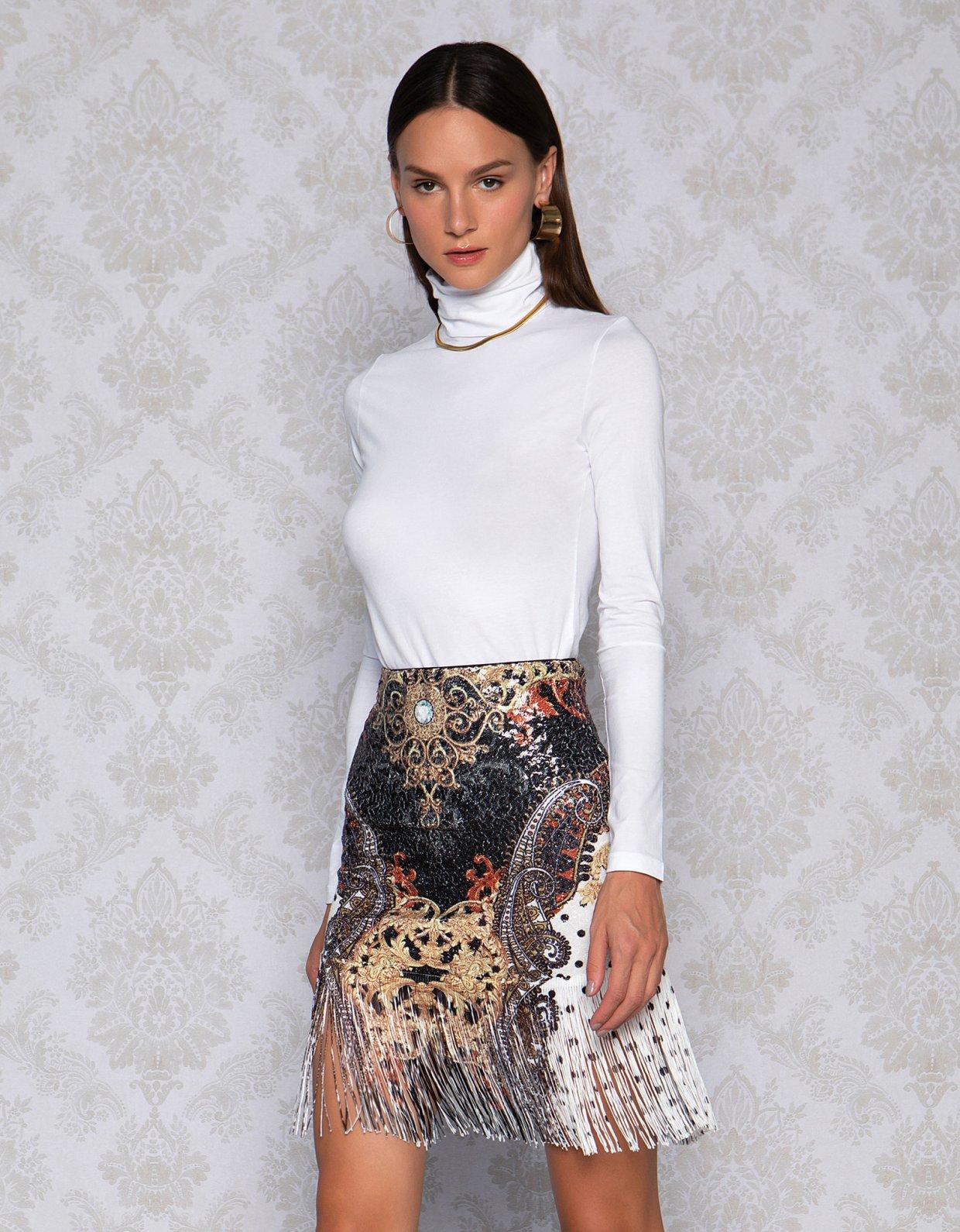 Peace & Chaos Dotty baroque skirt