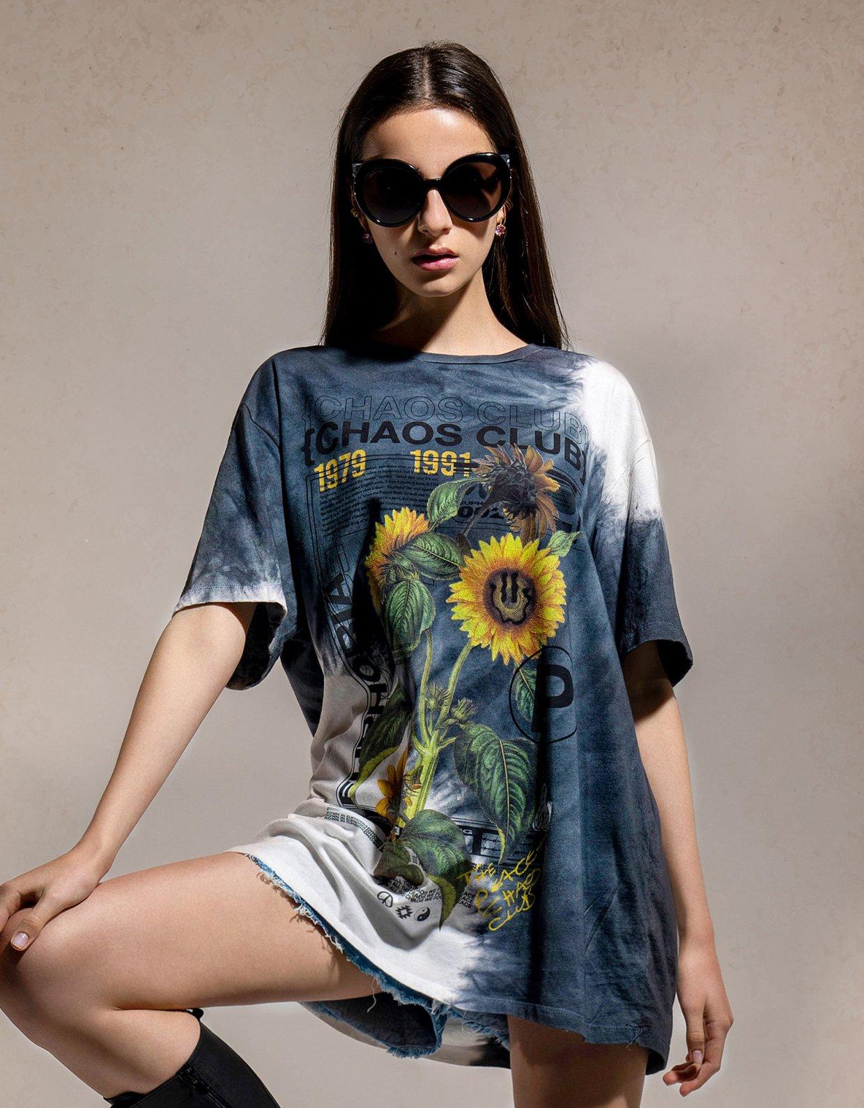 Peace & Chaos Chaos club tie dye t-shirt