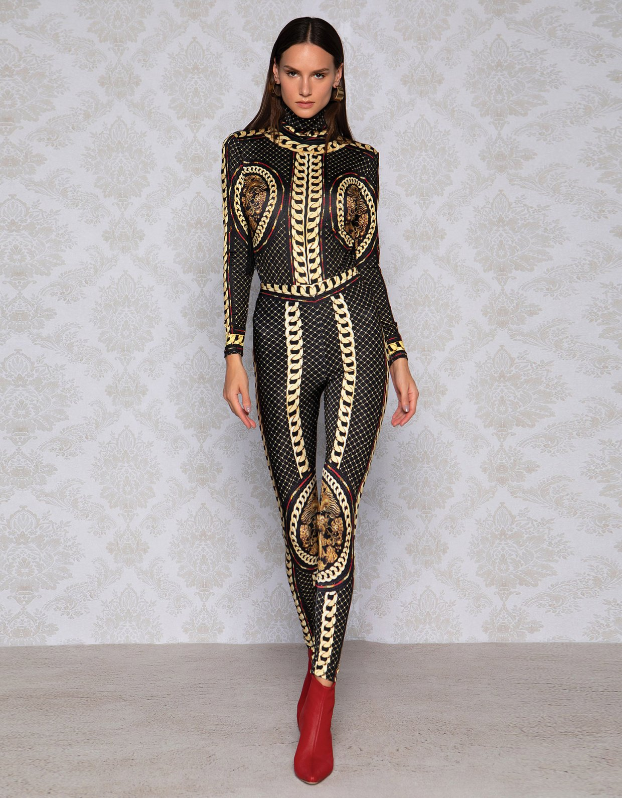 Peace & Chaos Gold chain leggings