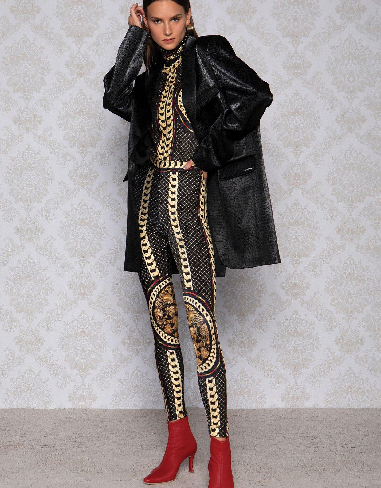 Peace & Chaos Gold chain bodysuit