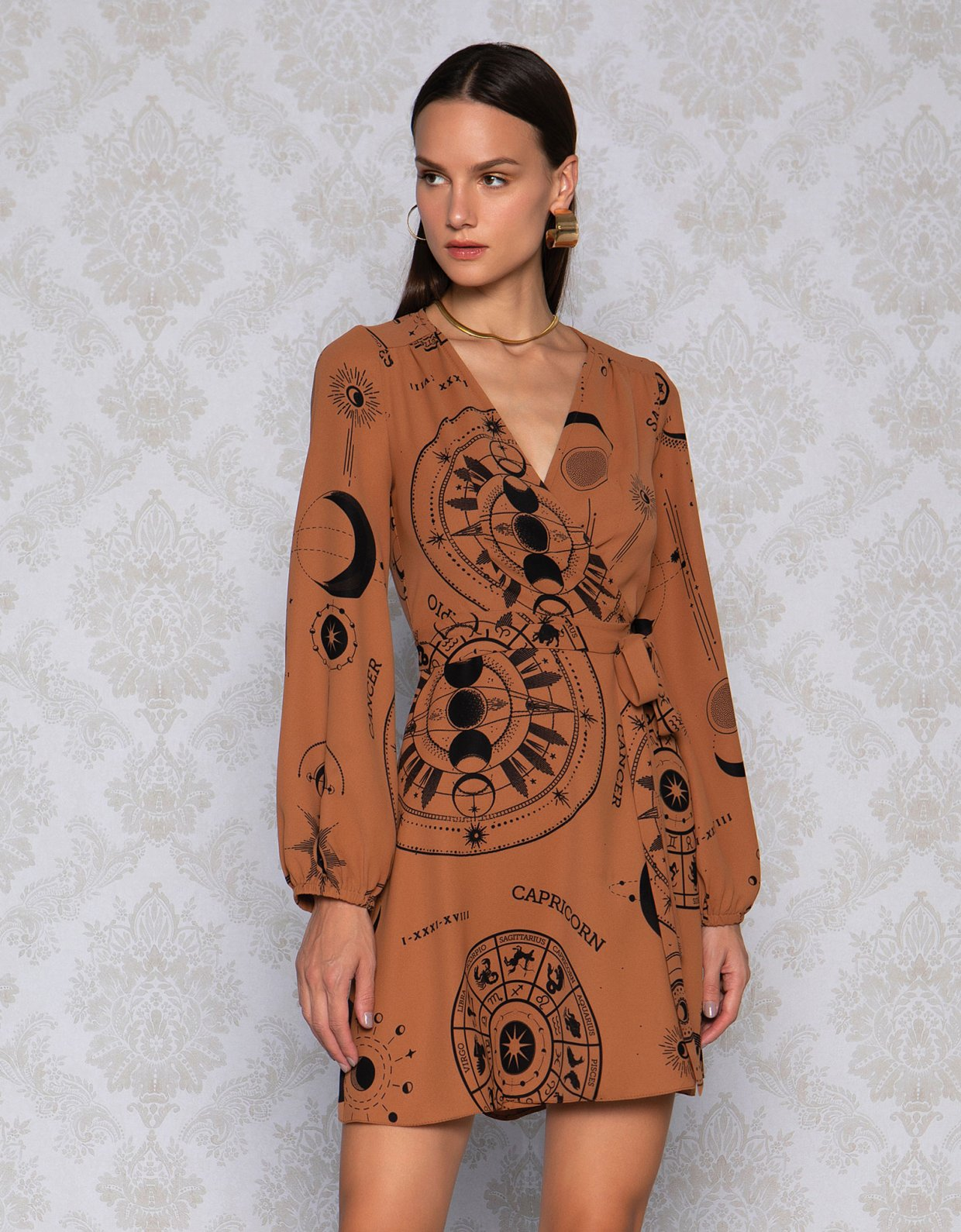 Peace & Chaos La luna wrap dress