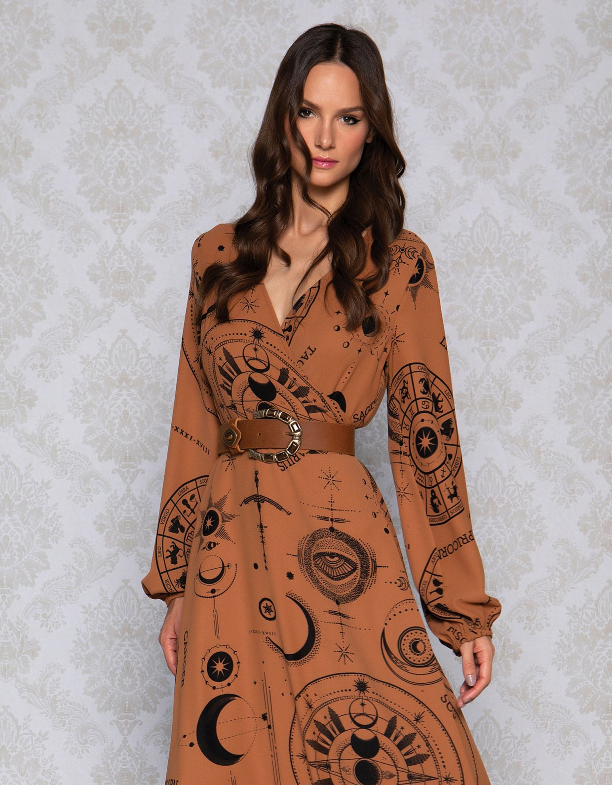 Peace & Chaos La luna wrap maxi dress