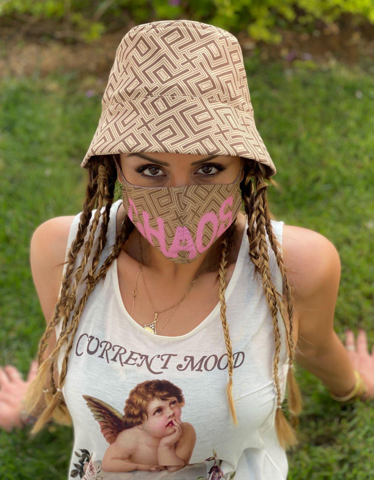 Peace & Chaos Motif face mask
