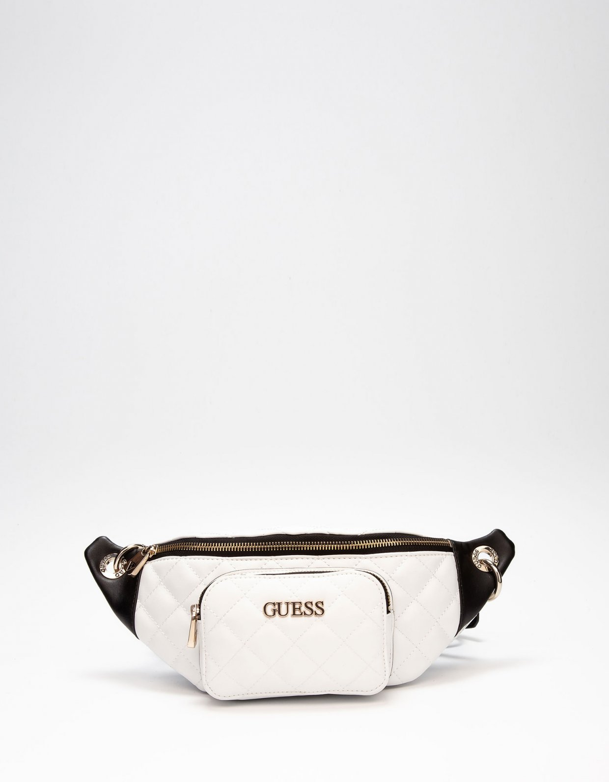 Guess Illy quilted belt bag white