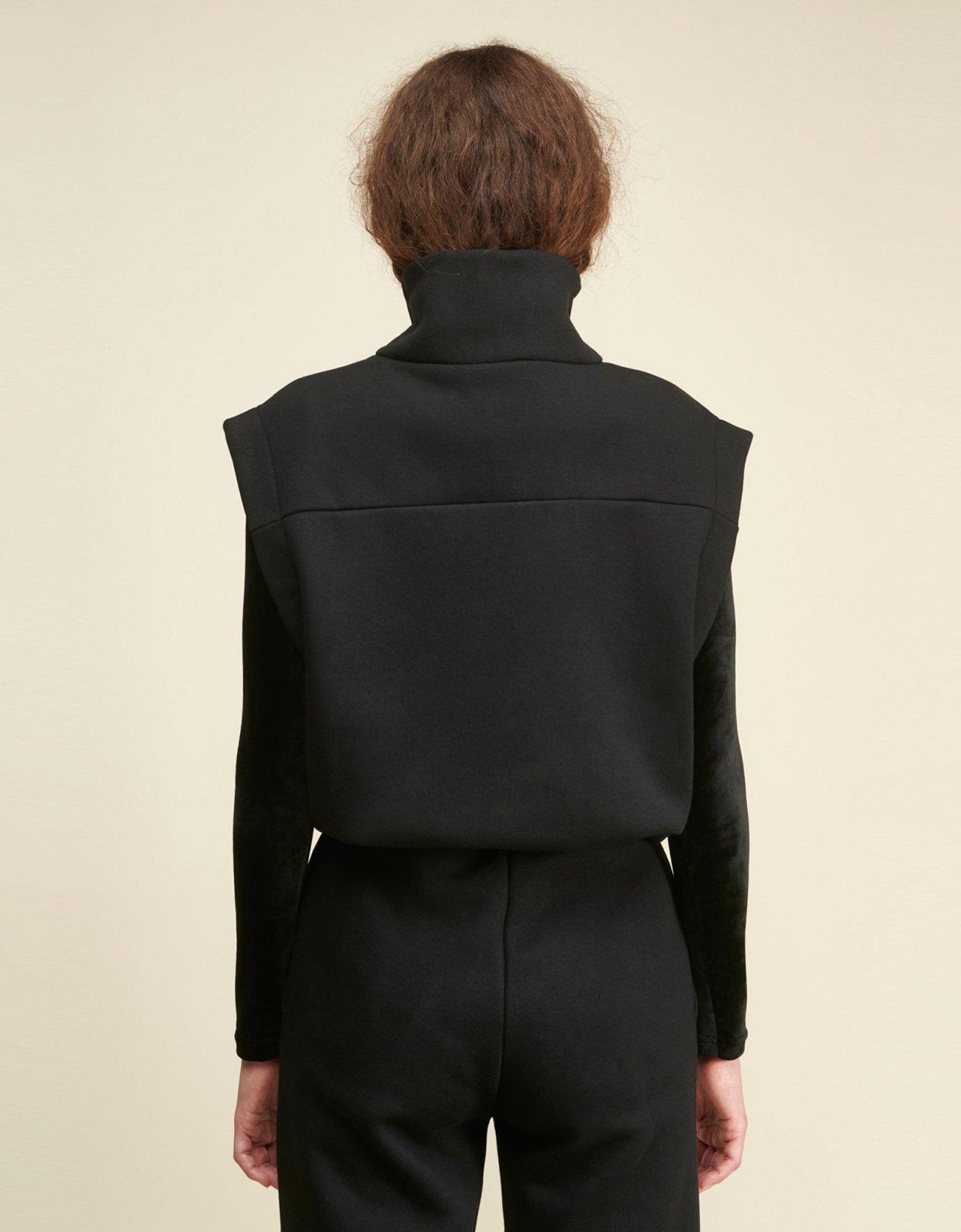 Sunset go Carla zip vest black