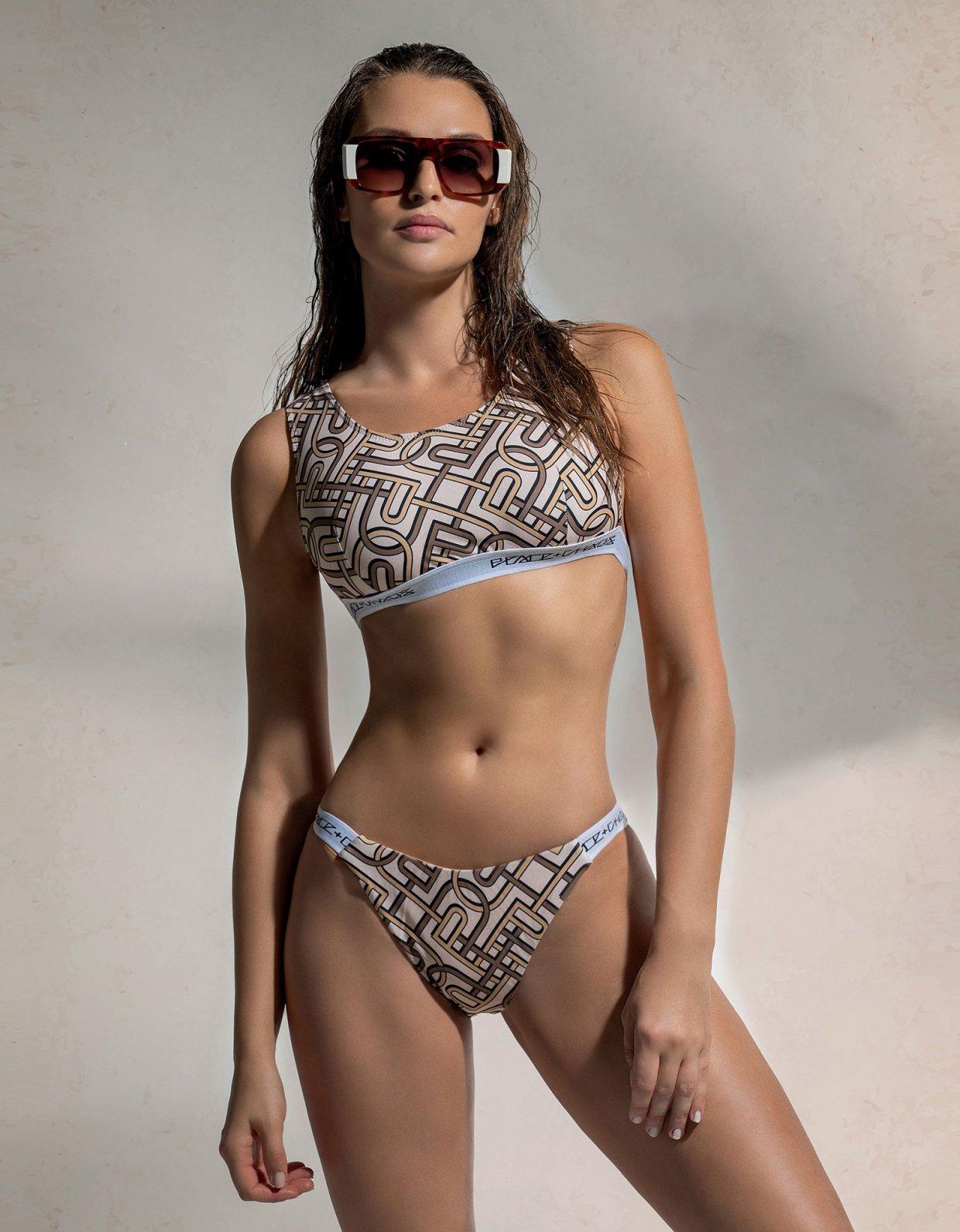 Peace & Chaos P&C pattern bikini