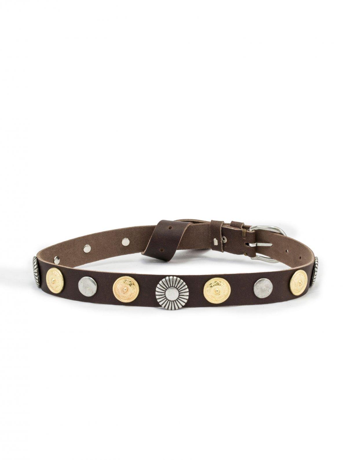 Individual Art Leather Grenade brown belt