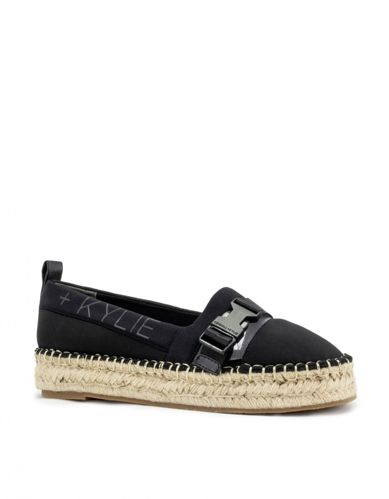 Kendall and Kylie Espa black clear espadrille