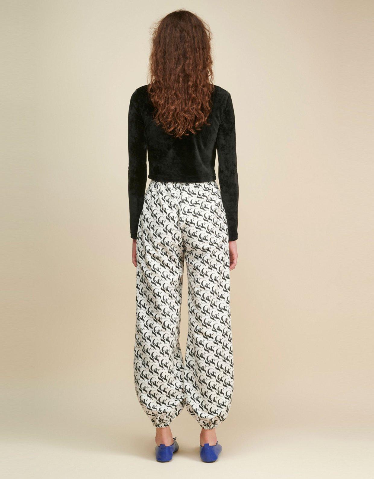 Sunset go Steeze SSG white & black track pants