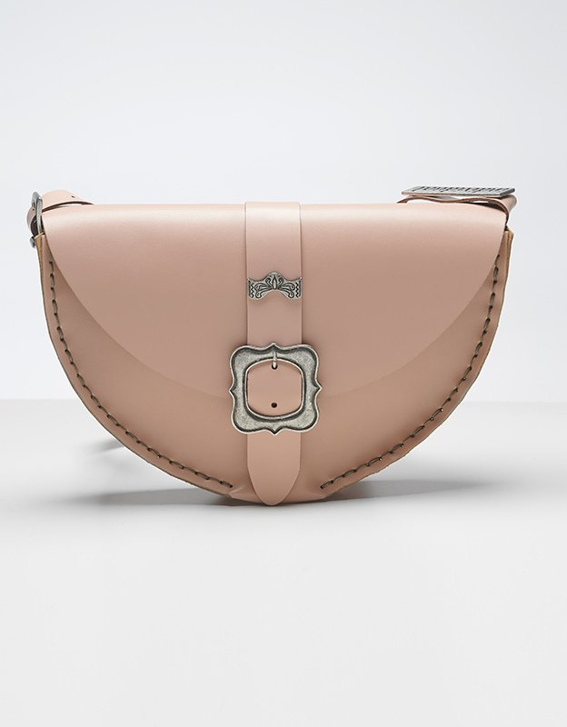 Individual Art Leather Shallow bag nude