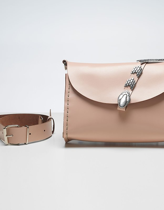 Individual Art Leather Poison nude bag
