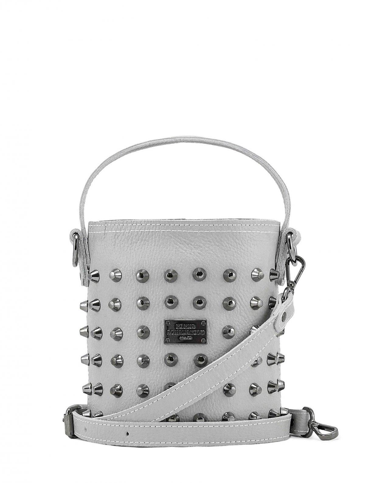 Elena Athanasiou Basket bag small ice grey