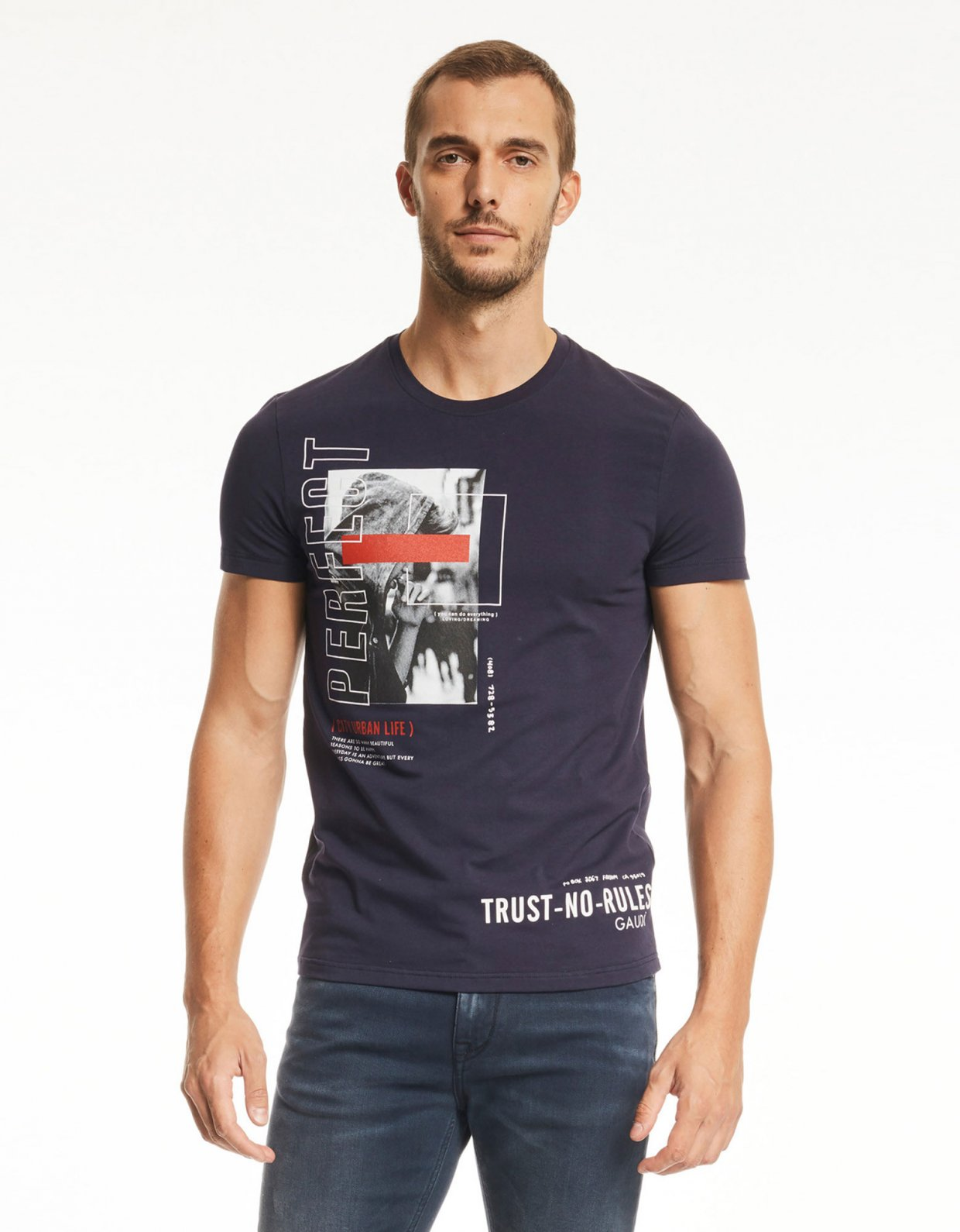 Gaudi Short sleeve t-shirt blue