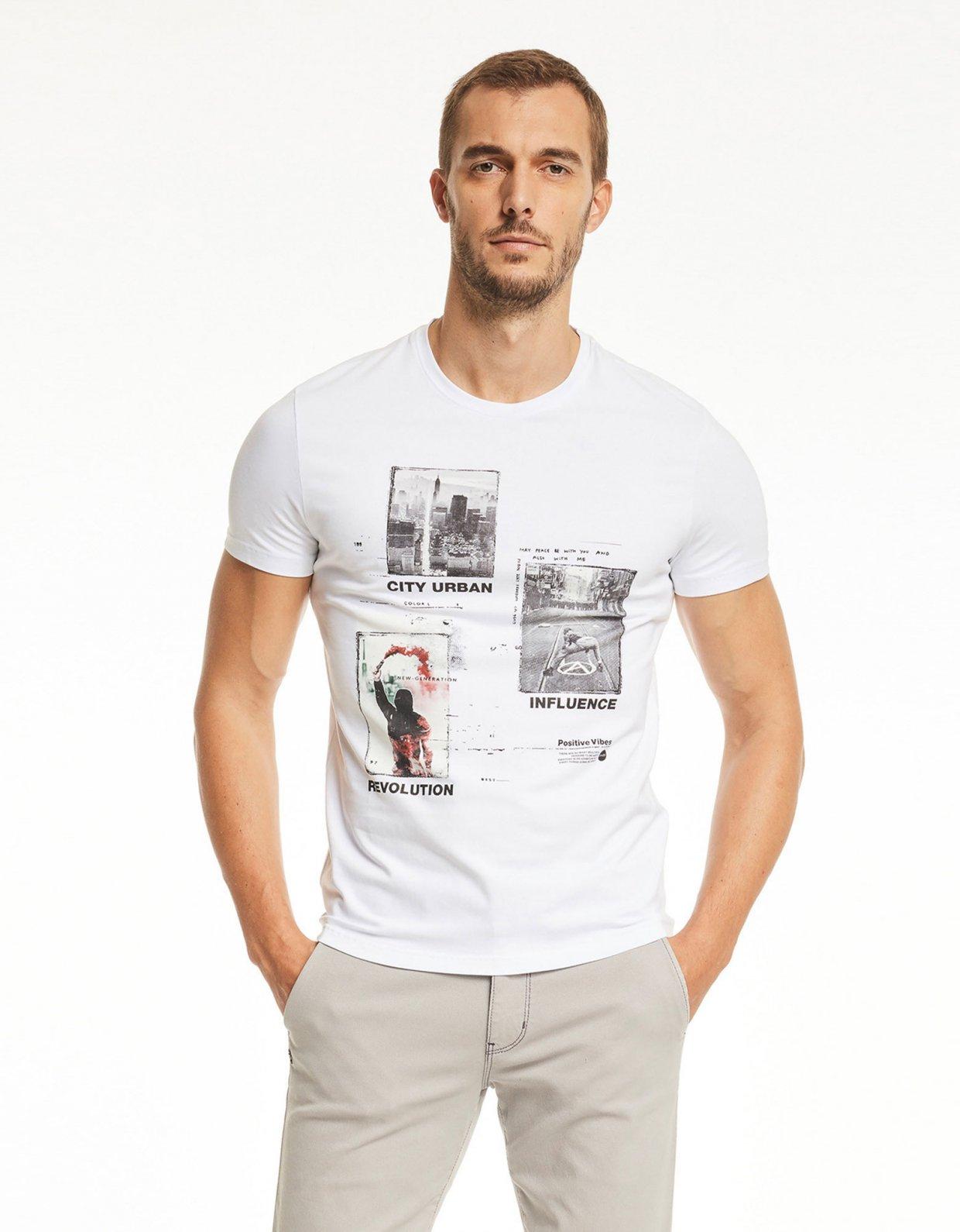 Gaudi Short sleeve t-shirt white