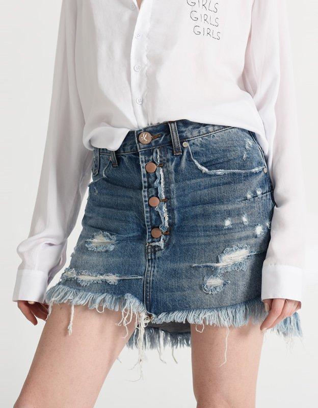Oneteaspoon Vanguard blue denim skirt