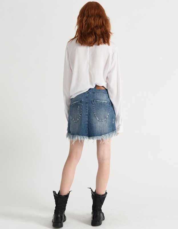 Oneteaspoon Vanguard blue denim skirt