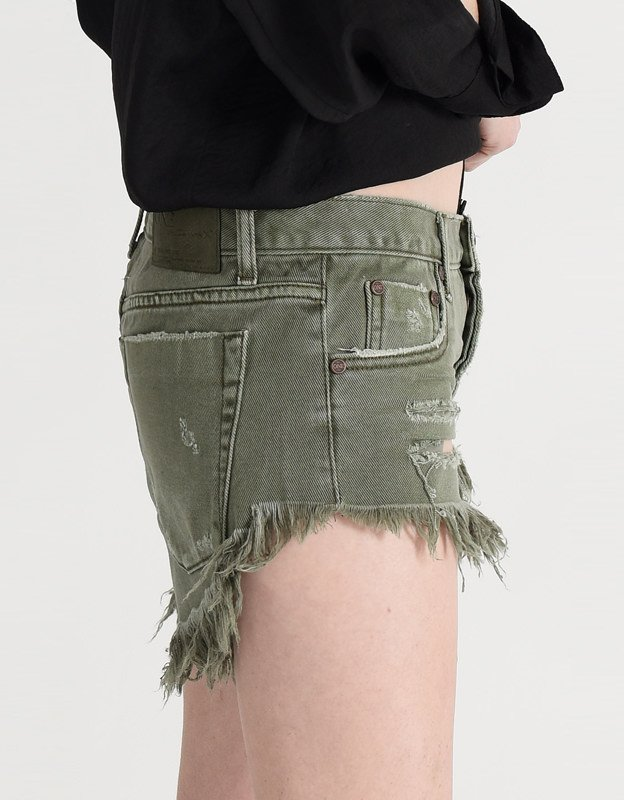 Oneteaspoon Brandos khaki denim shorts