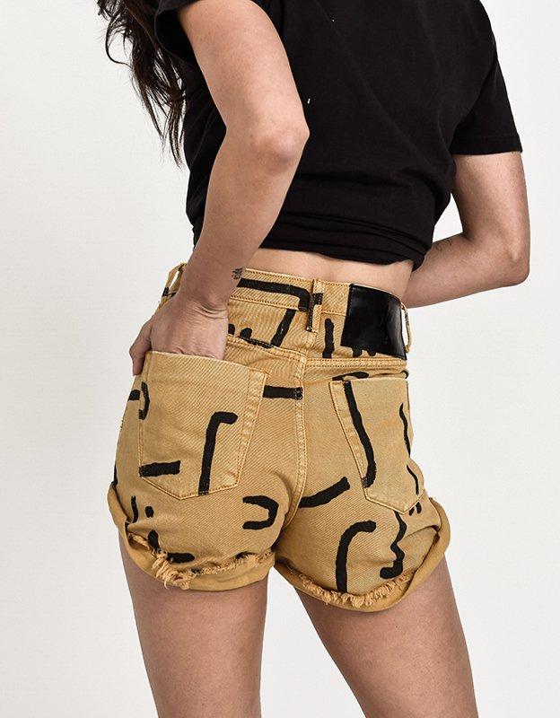 Oneteaspoon Bandits tobacco denim shorts