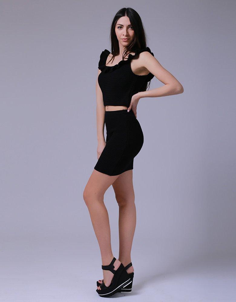 Combos Knitwear Combos S-58 black mini skirt